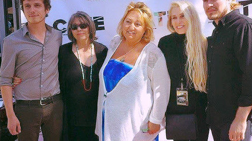 """At my screening of """"The Other Kind"""" at the Cinema at the Edge Film Festival in Santa Monica with the of my actors and the director of the festival."""