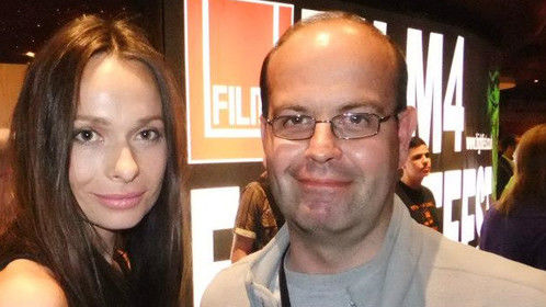 Taken at London Frightfest with one of the stars of the films screened