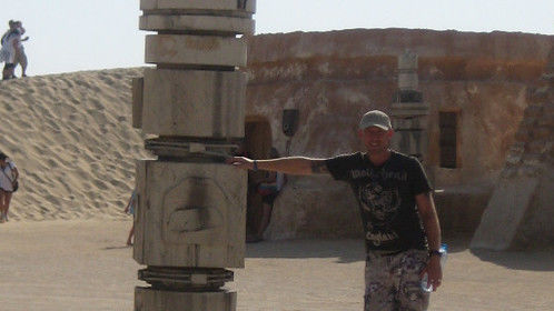 Mos Eisley cooling tower - and me.