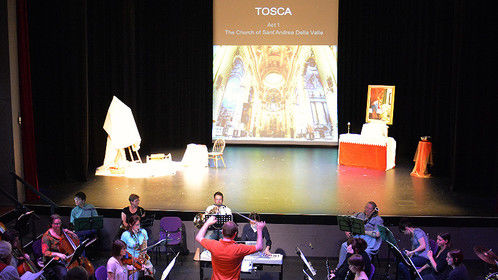 Me conducting the dress rehearsal for Yarra Opera's production of Puccini's opera Tosca, November 2014.