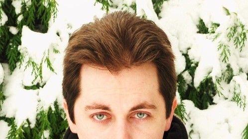 Headshot w/Beard - Winter Photo-shoot - Wolf Skin