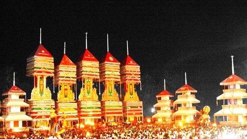 A Festival in Progress in my Native Village in my Province, Kerala, India.