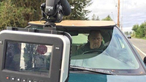 BTS for Growing Veterans short documentary film - car scene
