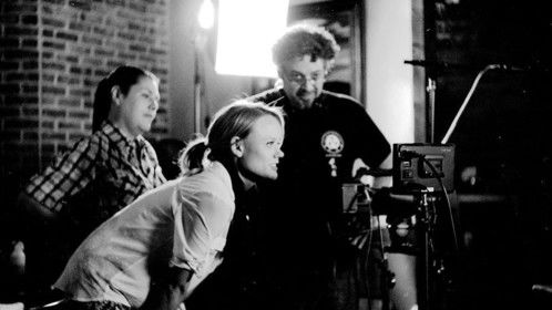 Checking the shot with some of my cast Photo Courtesy of Andrew Douglas Foote