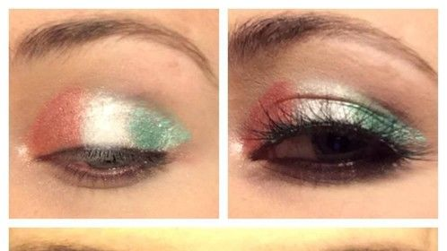 ST. Patrick's Day inspired makeup, Irish flag