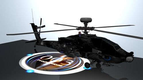 A helicopter we made for film or a video game
