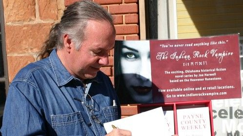 Book signing in Perkins, OK for my novel Payne County Weekly in Sept. 2012.