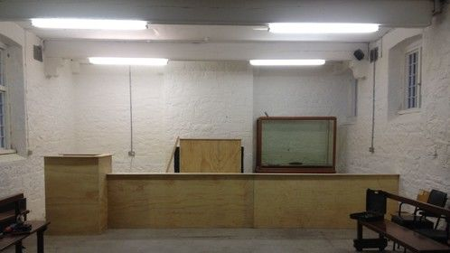 Courtroom set for The Cormack Brothers by Krown Films built by me and Geri Toohey