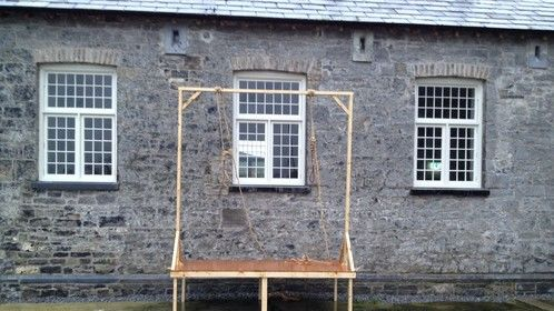 Gallows I assembled for The Cormack Brothers. Made by an unknown teacher