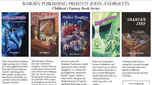The John Andrucci Children's Fantasy Book Series from RaburnPublishing.com