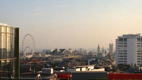 London skyline from Google HQ in London