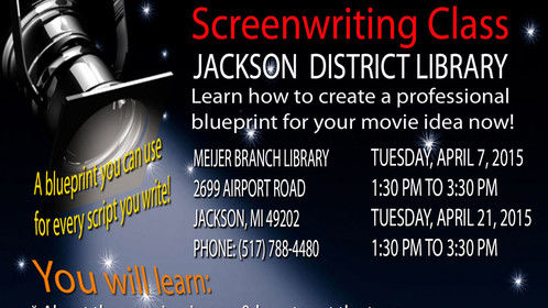 Tuesday, April 7 & Tuesday, April 21, 2015, from 1:30 PM to 3:30 PM at the Meijer Branch of the Jackson District Library in Jackson, Michigan.