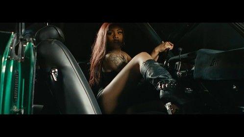 Screen shot bts Veezy music video.