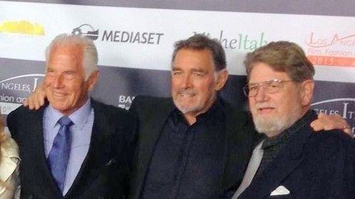 RICHARD HARRISON, FABIO TESTI and me, JOHN P. DULANEY. Feb. 18th 2015 CHINESE THEATER, HOLLYWOOD, ITALIAN FILM FESTIVAL