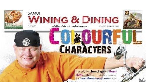 Samui wining & dining magazine Thailand review