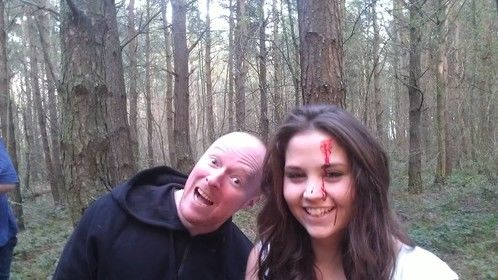 Rod Glenn and Harriet Ghost on location. Good times!