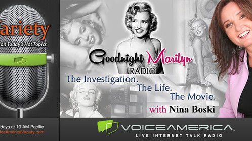 Executive Producer on this currently running radio show on VoiceAmerica Variety Channel which will become a major motion picture later this year. Every week a new episode! http://www.voiceamerica.com/show/2434/goodnight-marilyn-radio-the-investigation-the-life-the-movie