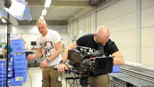Shooting a corporate video in Holland.