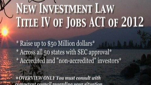 Title IV may be a potential funding structure for mid - large budget film projects. I can refer you to great lawyers that can help you assess the potential for your projects.
