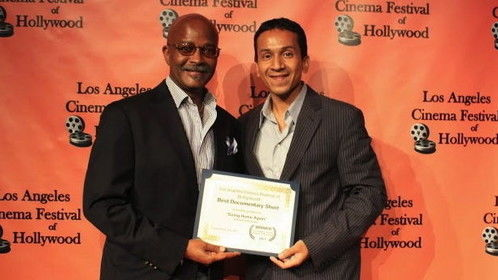 At the Los Angeles Cinema Festival of Hollywood with Raja Deka