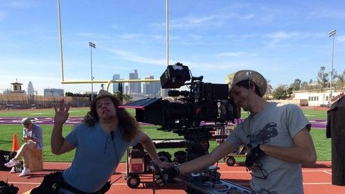 Filming a little MoW for Lifetime.