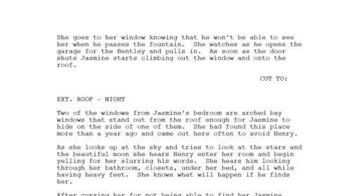 MORE JASMINE - Story line = JASMINE Jasmine gets ready to follow Priscilla's advice