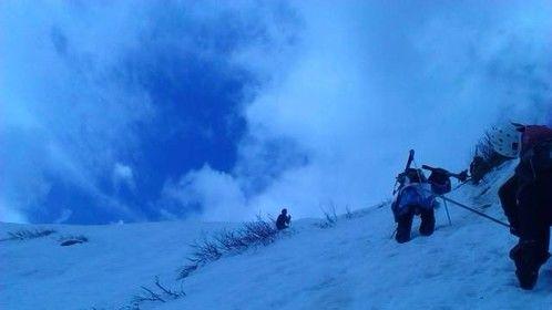 Climb it and ski it!