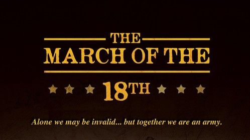 """""""The March of the 18th"""" Click for full size/SCREENPLAY AVAILABLE"""