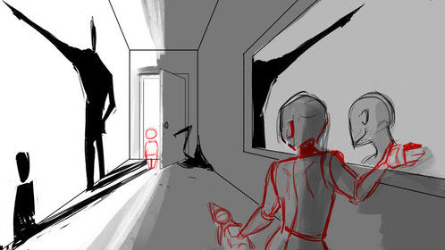 The rough mockup of concept art #2 for Juliebug, the short film I'm currently working on.