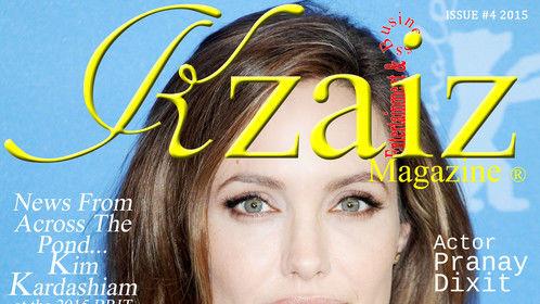 Angelina Jolie; cover https://www.kzaizmagazine.com/ISSUE #4