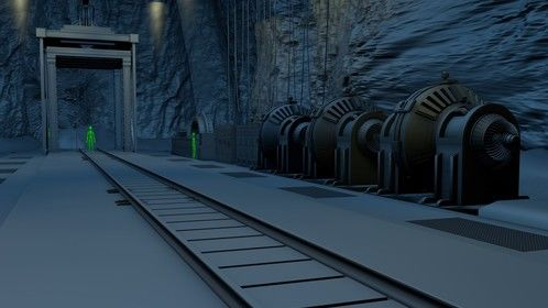 An underground secret mining facility for an upcoming 3D animation project.
