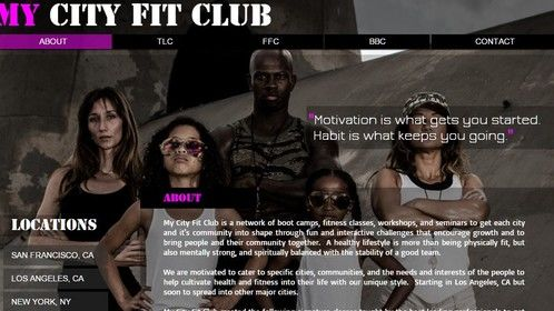 Start-Up client: My City Fit Clum