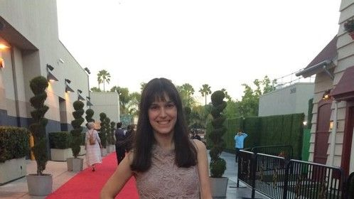 """On the red carpet at the 2015 Campus MovieFest Hollywood for the Best Story nominated film """"Rock This!"""""""