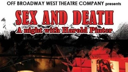 """Handbill from Off Broadway West Theatre Co.'s production of """"The Dumbwaiter"""" directed by Durand Garcia"""
