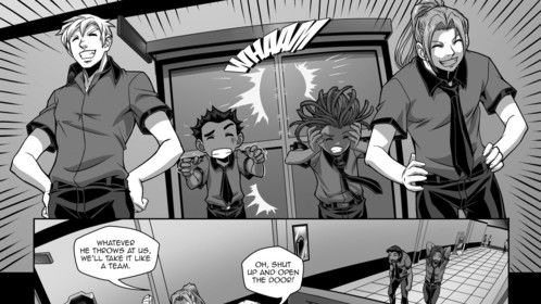 New page to UF9 comic book...
