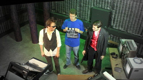 Master Blink - a film unfinished but not forgotten. Pictured: Dane Vandewiele, and Wayne Cordell Allen