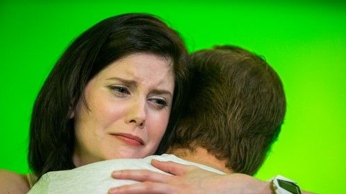 Lisa Ronaghan and James McCabe in a touching scene.