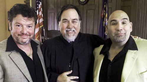 Mike Mili as Dimitri, Richard Karn as Judge Weatherbee and Rich Goteri as Boris on the set of Amanda and the Fox. http://www.imdb.com/name/nm1102023
