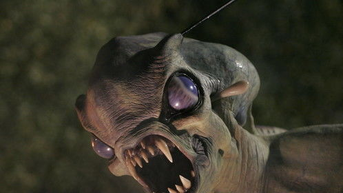 Creature created by artist Jordu Schell for Mark Stouffer's CREATURE OF DARKNESS, distributed by Showcase Entertainment and MTI.