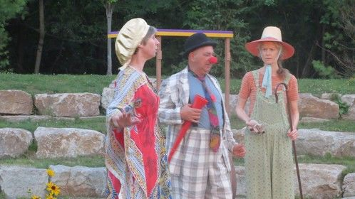 Playing Audrey (to the right) in As you like it, Hudson Players Club, 2014