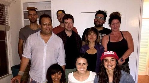 Some of the cast and crew for a pre-production meeting. :-)