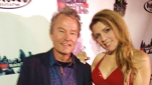 "Stefania Marcone and John Savage at the Premiere of ""The Black Dove"" Movie in Hollywood, CA 2015"