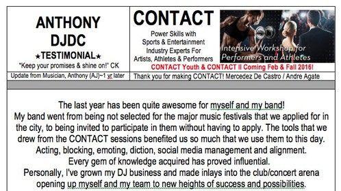 ANTHONY, (AJ) CONTACT @PowerofCONTACT Testimonial www.powerofcontact.com