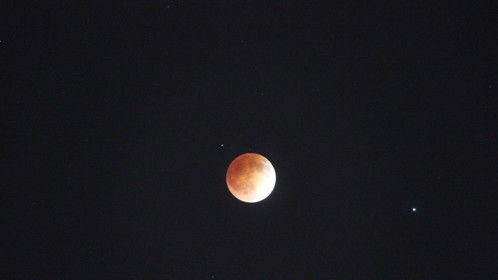 Orange Moon and Star..