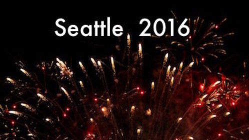 Seattle 2016 New Years Eve fireworks for my roof top view of the Space Neadle