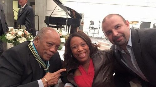 With the legendary Quincy Jones after he was honored with the Society of Composers and Lyricists Lifetime Achievement Award!