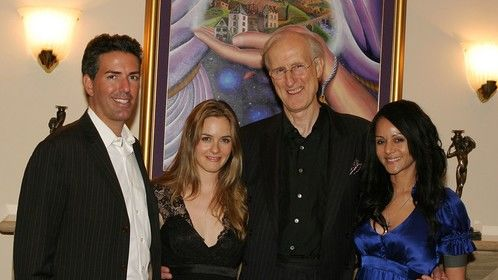 """Prop 2 Humane Society Fundraiser, """"Hollywood Comes to La Jolla."""" (From Left to Right) Humane Society of the United States CEO Wayne Pacelle, Actress Alicia Silverstone, Actor James Cromwell, and Actress Persia White"""