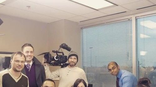 On the set of 'Regret', written and directed by Clint D'Souza, DP, Tom Santos