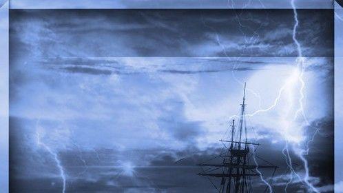 Stormy water  #storm #sea #water #rain #wind #lightning #ship