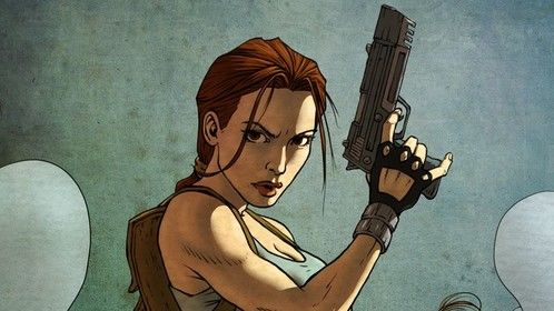 Lara Croft, Tomb Raider - from a pencil drawing by Andy Park.